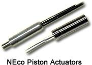 pyrotechnic piston actuators